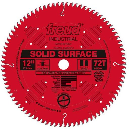 """View a Larger Image of 12"""" Full Kerf Solid Surface Blade"""