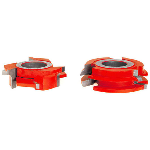 "View a Larger Image of 15/64"" Radius 3/4"" Stock Male & Female Cabinet Door Cutter Set"