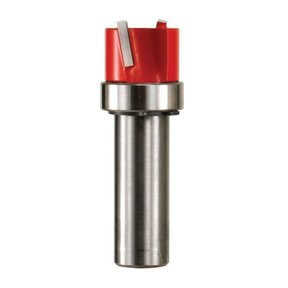 "16-522 Mortising Router Bit with Top Bearing 1/2"" SH 1-1/4"" D 15/64"" CL"