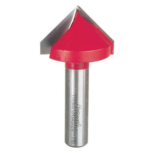 "View a Larger Image of 20-116 V Groove Router Bit 1-1/2""D 1""CL 1/2""SH 90 Degree"