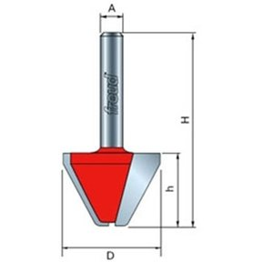 "20-172 Lettering Router Bit 1/4"" SH 1"" D 3/4"" CL 60 Degrees"
