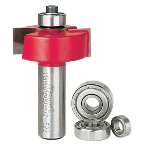 """View a Larger Image of 32-522 4 Piece Rabbeting Router Bit Set With Bearings 1/2"""" Shank"""