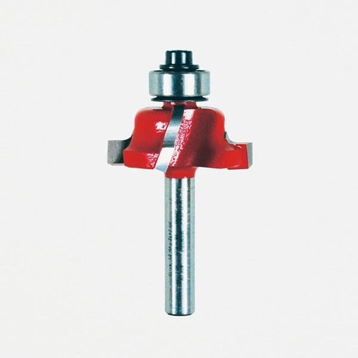 "View a Larger Image of 38-100 Quadra-Cut Roman Ogee Router Bit 1/4"" Shank 1-1/16"" D 1/2"" CL 5/32"" R"
