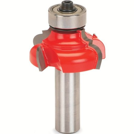 "View a Larger Image of 38-614 Quadra-Cut Classical Ogee Router Bit 1/4"" R And 3/16"" R 1/2"" SH"