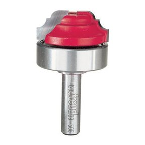 "39-506 Classical Cove And Bead Groove Router Bit with Top Bearing 3/8"" SH 1-3/8"" D 9/16"" CL"