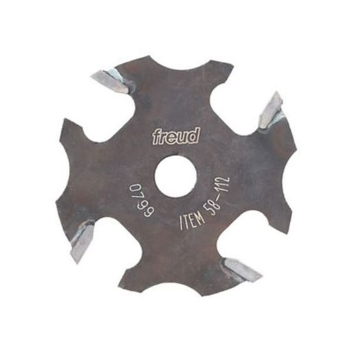 "View a Larger Image of 58-112 4-Wing Slotting Cutter Router Bit 1/4"" CL"