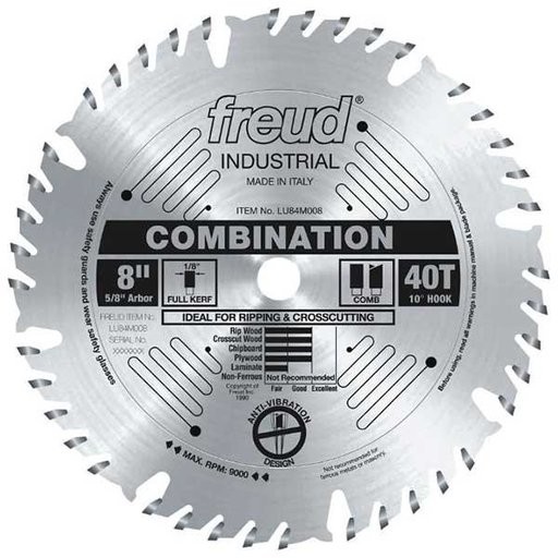 "View a Larger Image of 8"" Full Kerf Combination Blade"