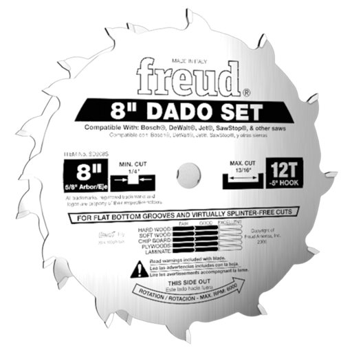 "View a Larger Image of 8"" Stacked Dado Set for All Saws"