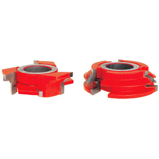 "View a Larger Image of 9/32"" Radius 3/4"" Stock Male & Female Cabinet Door Cutter Set"