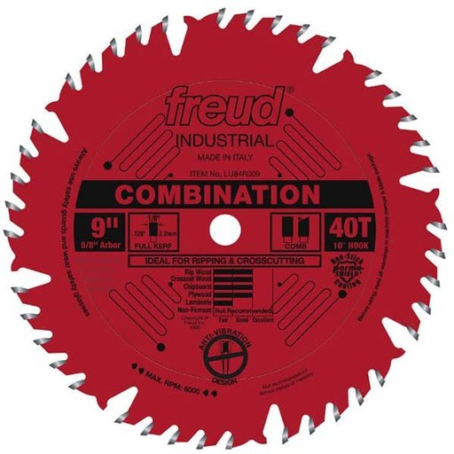 "View a Larger Image of 9"" Full Kerf Combination Blade"