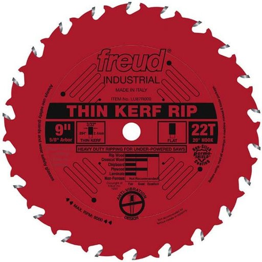 "View a Larger Image of 9"" Thin Kerf Rip Blade"