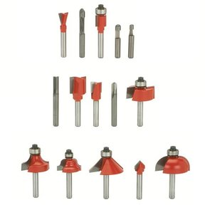 "90-100 Advanced Router Router Bit Set 15-Piece 1/4"" SH"