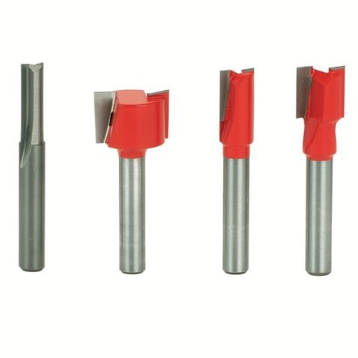 """View a Larger Image of 90-106 Undersized Plywood Router Router Bit Set 4-Piece 1/4"""" SH"""
