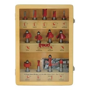 91-100 Thirteen Piece Super Router Bit Set 1/2 Shank