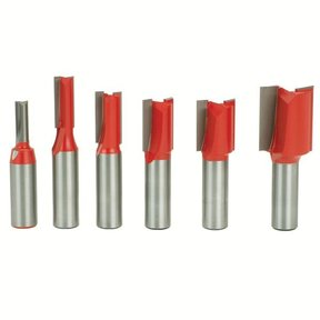 "91-102 Straight Router Router Bit Set 6-Piece 1/2"" SH"