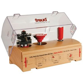 98-308 Three Piece Full Lite French Door Router Router Bit Set Ogee