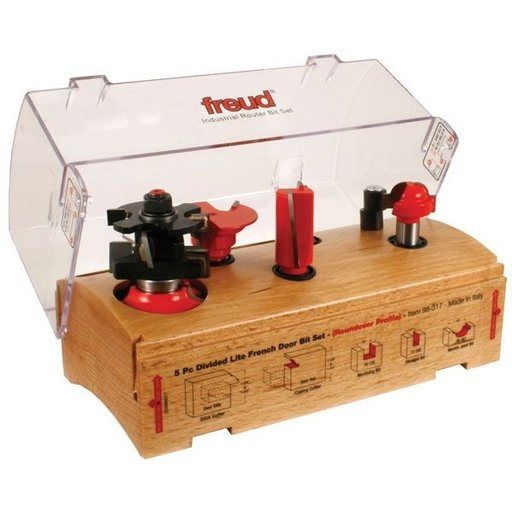View a Larger Image of 98-317 Five Piece French Door Router Router Bit Set Roundover