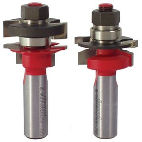 "99-266 Two Piece Mini Rail And Stile Router Router Bit Set 1/2"" Shank"