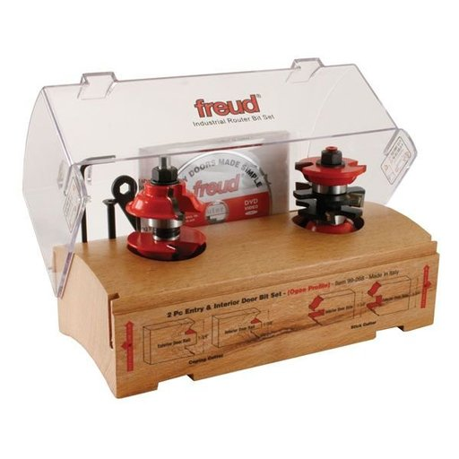 """View a Larger Image of 99-268 Two Piece Entry Door Router Router Bit Set Ogee 1/2"""" Shank"""