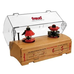 "99-269 Entry And Interior Door Cove And Bead Router Router Bit Set 2 Piece 1-3/4"" And 1-3/8"" Doors 1/2""SH"