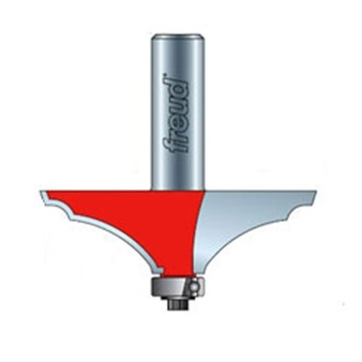 "View a Larger Image of 99-452 Quadra-Cut Table Edge And Handrail Router Bit 2-5/8"" Diameter 1/2"" Shank"