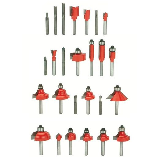 "View a Larger Image of Artisan Router Bit Set, 26-Piece, 1/4"" SH, # 92-100"
