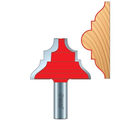 View a Larger Image of Chair Rail Router Bit Upper Style 300