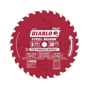 "D0530F Diablo Steel Demon Ferrous Circular Saw Blade, 5-3/8"" diameter, 10mm arbor, 30 teeth AT"