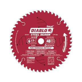 "D0648F Diablo Steel Demon Ferrous Cutting Blade, 6-1/2"" diameter, 5/8"" arbor, 48 teeth TCG"