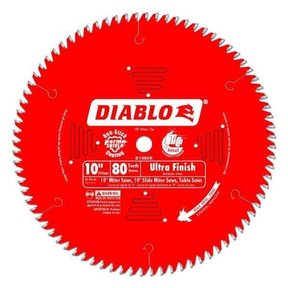 "D1080X Ultra Fine Finish Saw Blade, 10"" diameter, 5/8"" arbor, 80 teeth Hi-ATB"