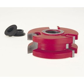 "EC-032 Wedge Tongue & Groove Shaper Cutter, 2-7/8"" OD, 5/16"" CD, 1-7/64"" CL, 3/4"" bore"