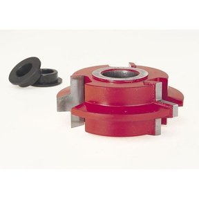 "EC-033 Wedge Tongue & Groove Shaper Cutter, 2-7/8"" OD, 5/16"" CD, 1-7/64"" CL, 3/4"" bore"