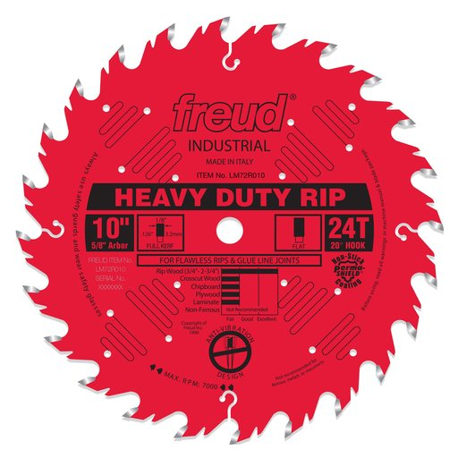 "View a Larger Image of LM72R010 Ripping Saw Blade 10"" x 5/8"" Bore x 24 Tooth Flat Top"