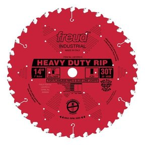 """LM72R014 Industrial Heavy Duty Ripping Blade (3/4"""" to 2-3/4"""") with Red Perma-Shield, 14"""" dia."""