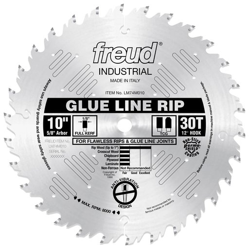 "View a Larger Image of LM74M010 Ripping Saw Blade 10"" x 5/8"" Bore x 30 Tooth TCG"