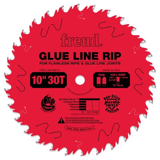 "View a Larger Image of LM74R010 Glue Line Ripping Circular Saw Ripping Saw Blade 10"" x 5/8"" Bore x 30 Tooth"