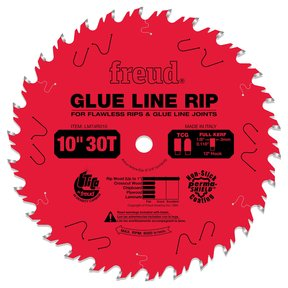 "LM74R010 Glue Line Ripping Circular Saw Ripping Saw Blade 10"" x 5/8"" Bore x 30 Tooth"
