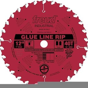 "LM74R012 Glue Line Rip Saw Blade 12"" x 1"" Bore X 40 Tooth Full Kerf"