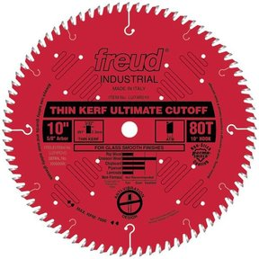"LU74R010 Thin Kerf Ultimate Cut-Off Blade 10"" x 5/8"" Bore x 80 Tooth ATB Thin Kerf"