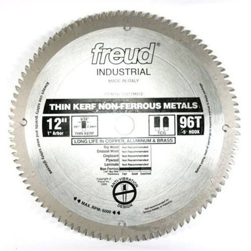 "View a Larger Image of LU77M012 Circular Saw Blade 12"" x 1"" Bore x 86 Tooth TCG Thin Kerf"