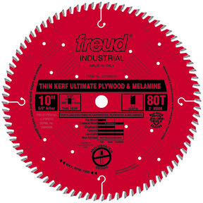 "LU79R010 Circular Saw Plywood/Melamine Saw Blade 10"" x 5/8"" Bore x 80 Tooth Hi-ATB Thin Kerf"