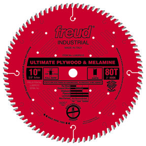 "LU80R010 Finish Circular Saw Blade 10"" x 5/8"" Bore x 80 Tooth Hi-ATB"