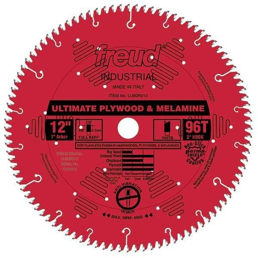"View a Larger Image of LU80R012 Circular Saw Blade 12"" x 1"" Bore x 96 Tooth Hi-ATB"
