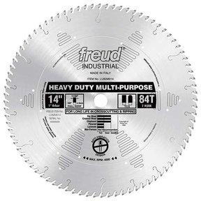 "LU82M014 Industrial Heavy Duty Multi-Purpose Blade, 14"" diameter, 1"" arbor, 84 teeth TCG"