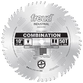 "LU84M011 Circular Saw Blade 10"" x 5/8"" Bore x 50 Tooth Combination"