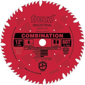 "LU84R012 Red Perma-Shield Circular Saw Blade 12"" x 1"" Bore x 60 Tooth Hi-Combination"