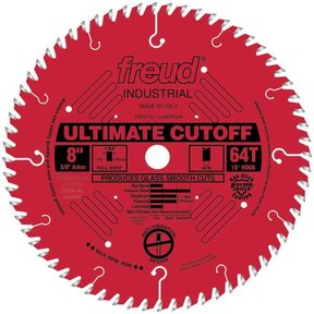 "LU85R008 Industrial Ultimate Cut-Off Bladed with Red Perma-Shield 8"" x 5/8"" Bore x 64 Tooth ATB"
