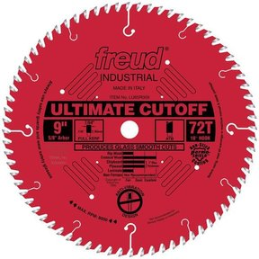 "LU85R009 Industrial Ultimate Cut-Off Blade with Red Perma-Shield, 9"" diameter, 5/8"" arbor"