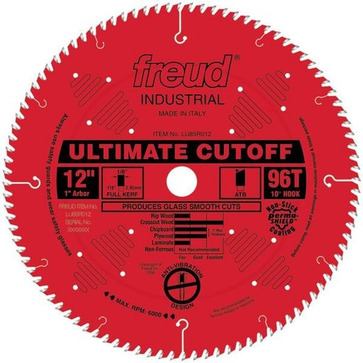 """View a Larger Image of LU85R012 Ultimate Crosscut Saw Blade 12"""" x 1"""" Bore x 96 Tooth ATB"""