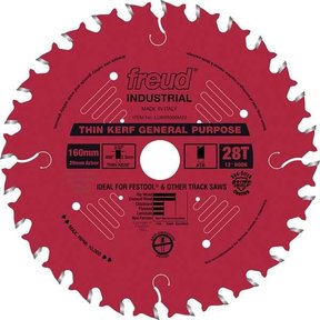 LU86R008M20 General Purpose Blade with Red Perma-Shield, 160mm diameter, 20mm arbor, 28 teeth